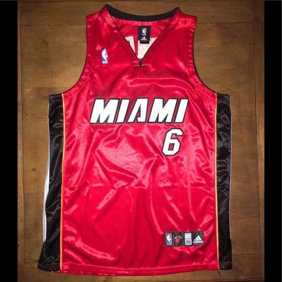 buy popular 98b62 f4b16 Adidas nba Miami Heat Lebron James jersey #6